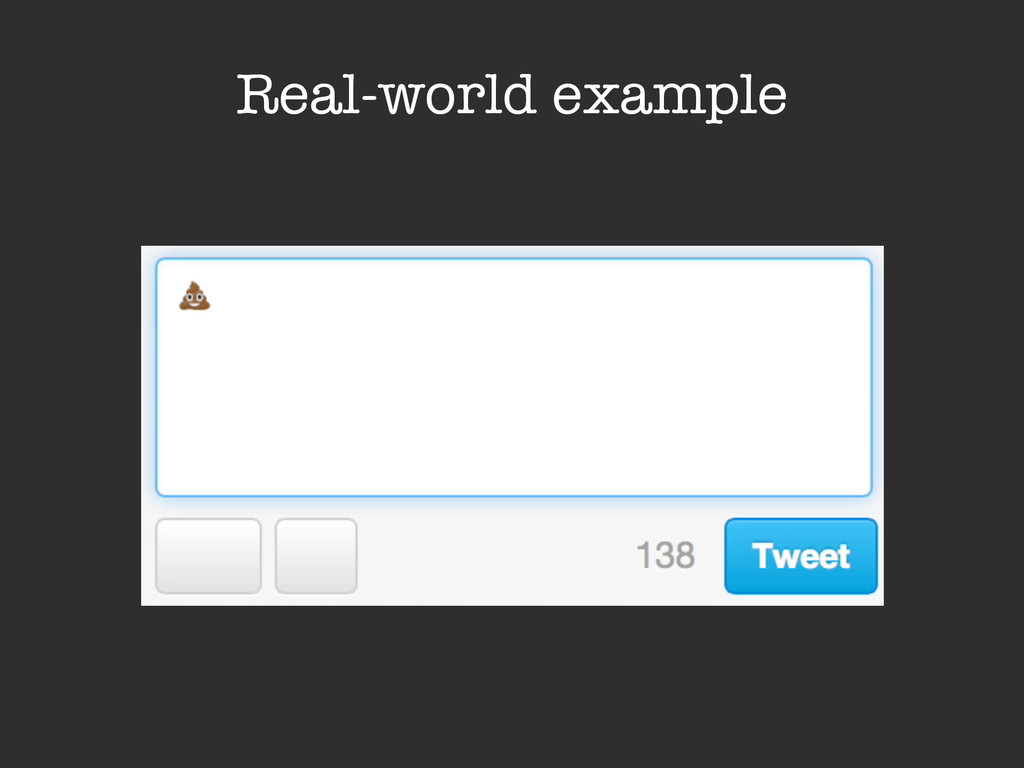 Real-world example