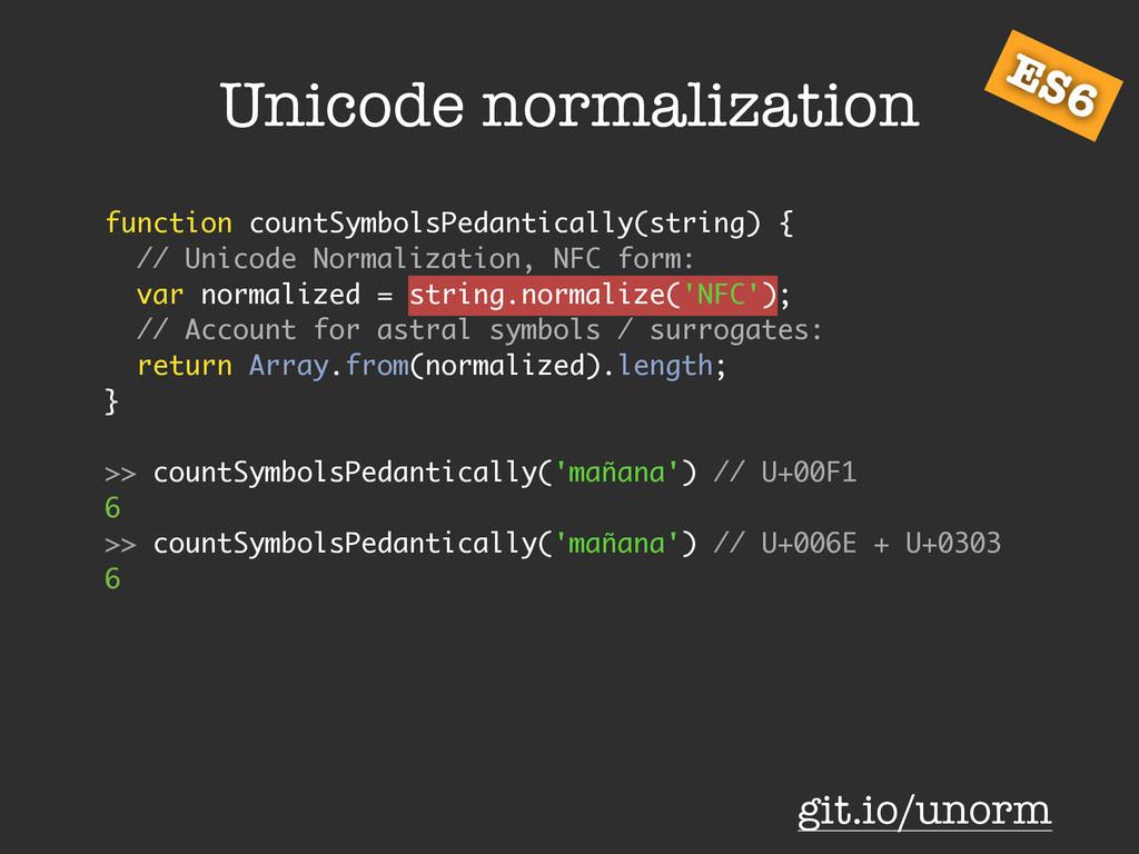 function countSymbolsPedantically(string) { // ...