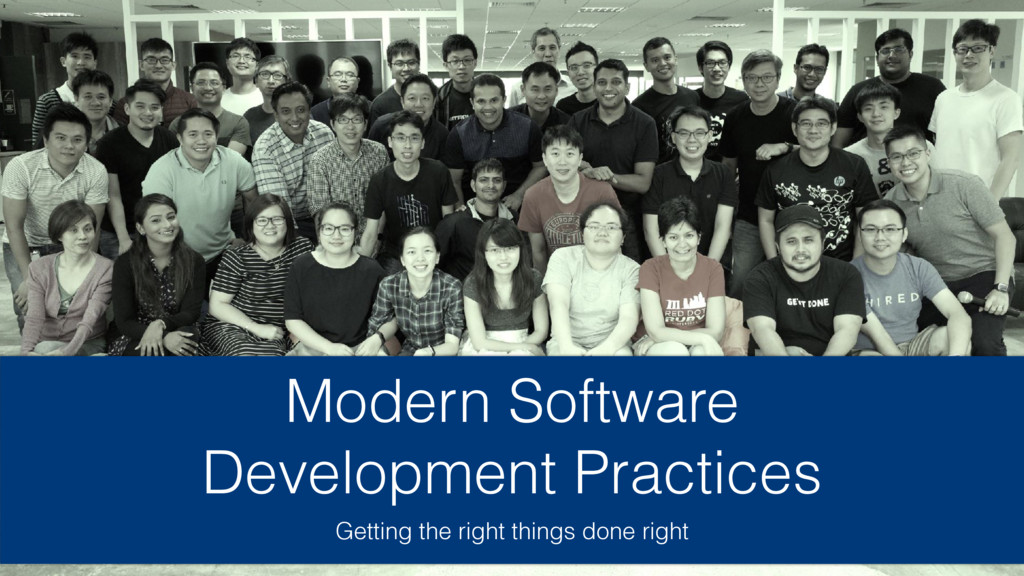 Modern Software Development Practices Getting t...