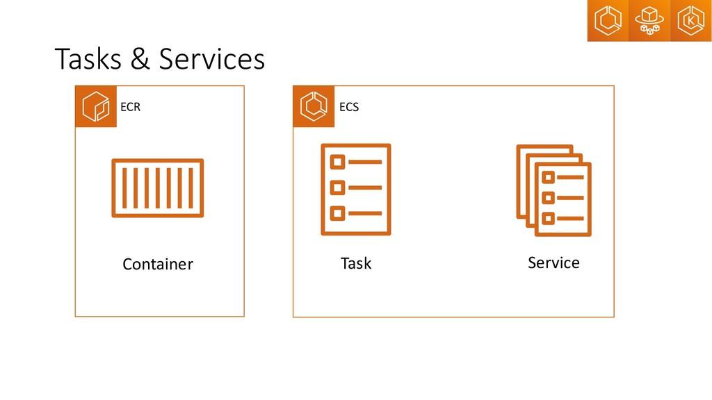 Tasks & Services Container Service Task ECR ECS