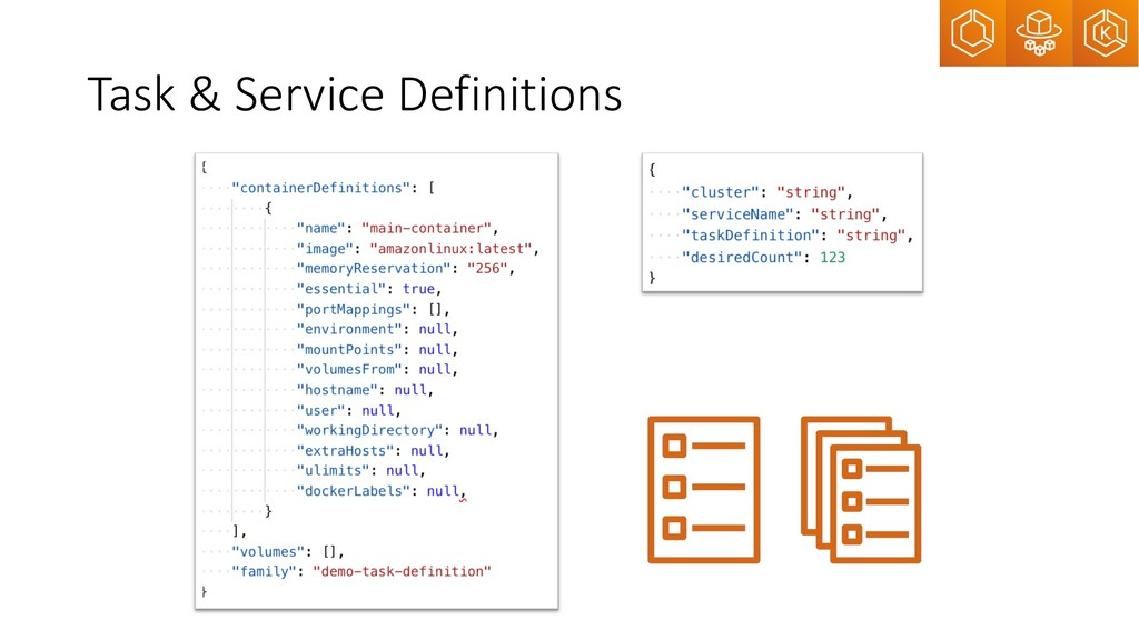 Task & Service Definitions