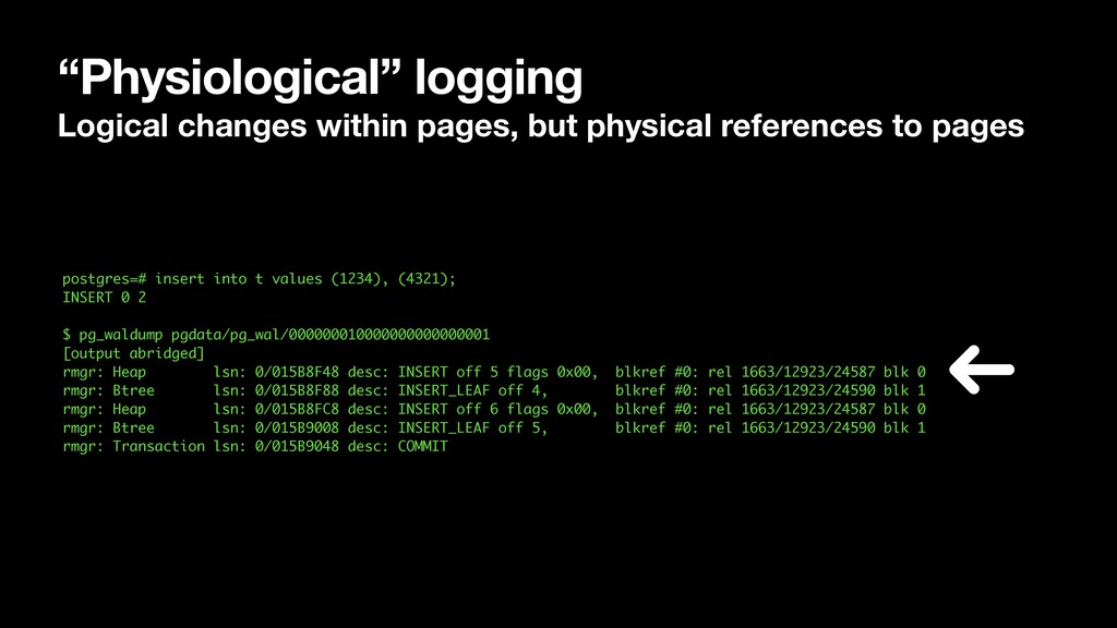 """Physiological"" logging Logical changes within ..."