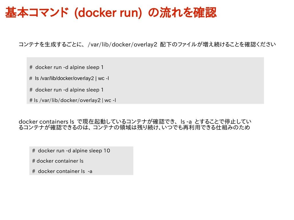 # docker run -d alpine sleep 1 # ls /var/lib/do...