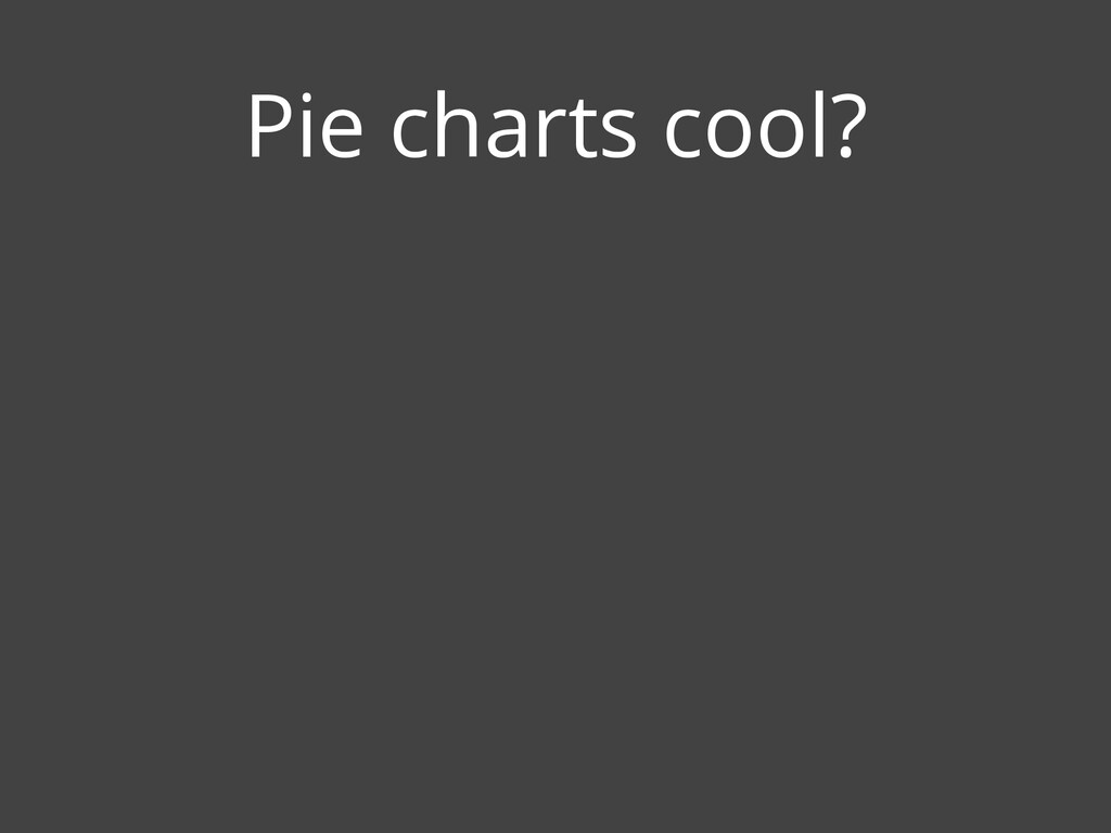 Pie charts cool?