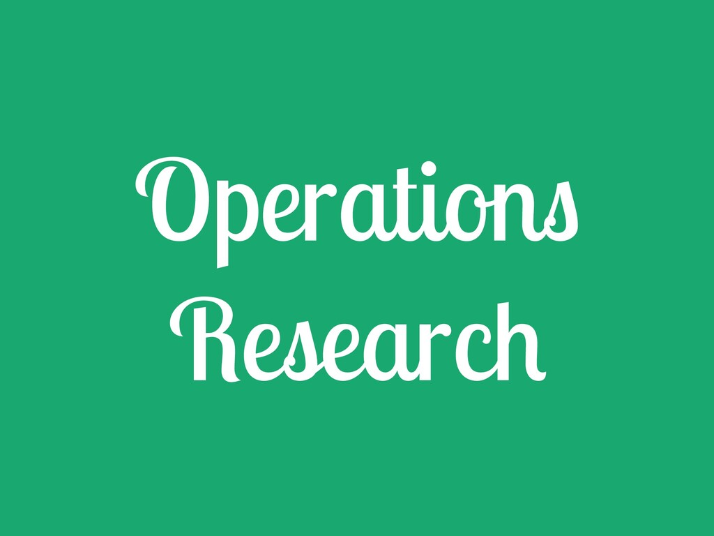 Operation Researc