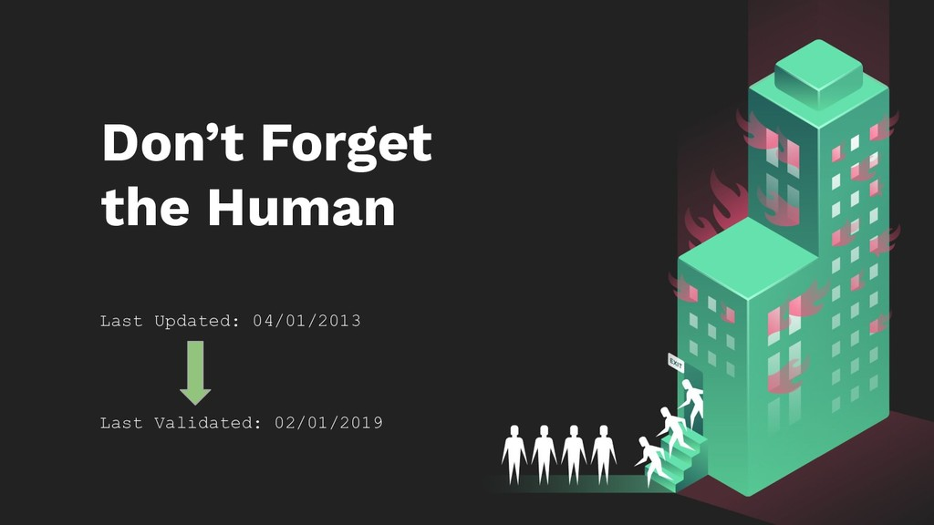 Don't Forget the Human Last Updated: 04/01/2013...