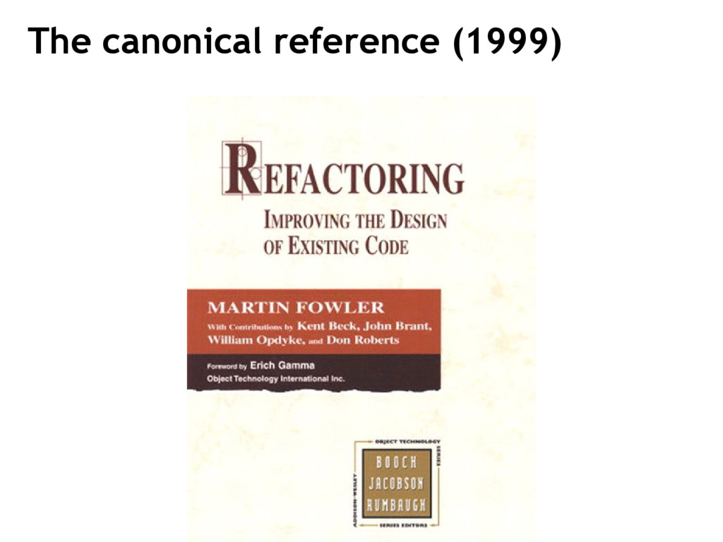 The canonical reference (1999)