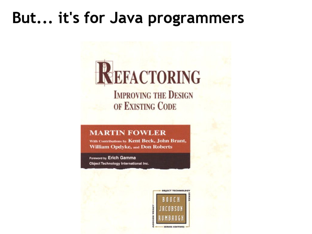 But... it's for Java programmers