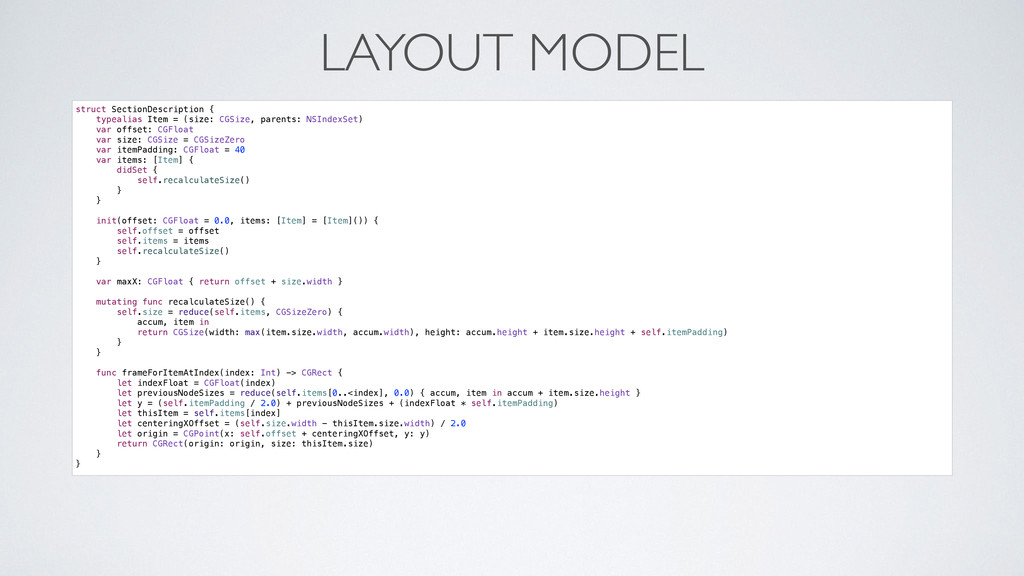 LAYOUT MODEL struct SectionDescription { typeal...