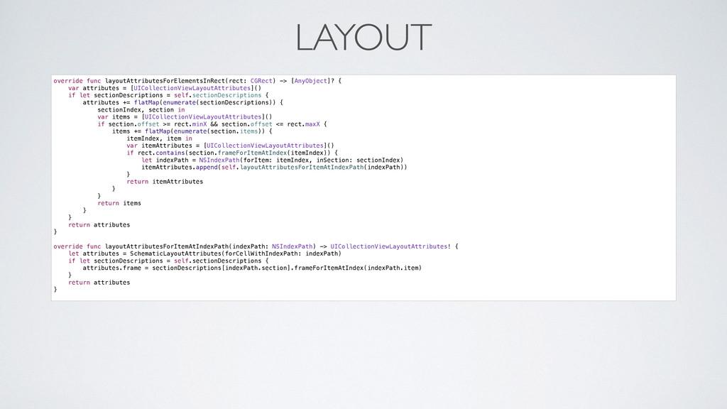 LAYOUT override func layoutAttributesForElement...
