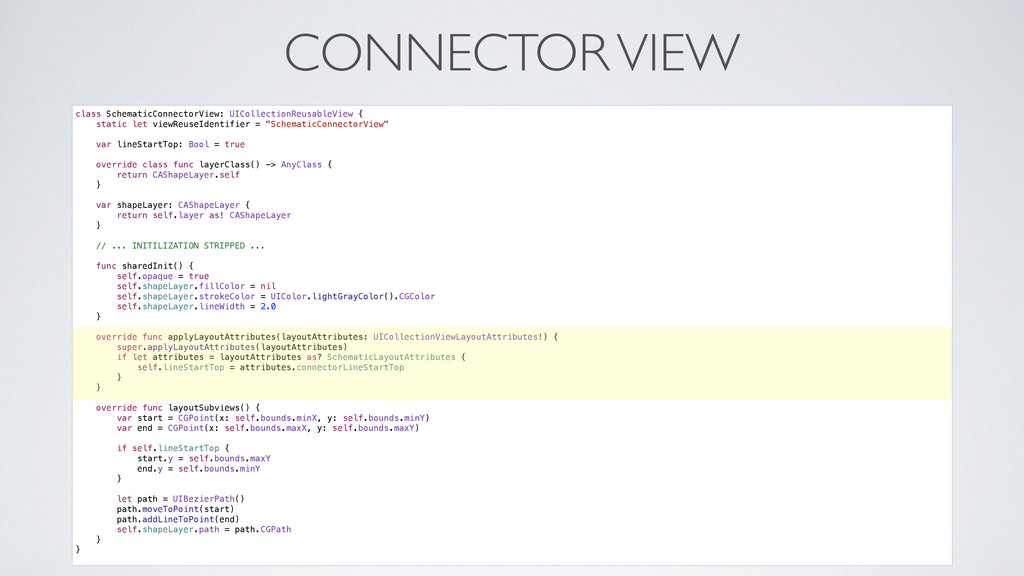 CONNECTOR VIEW class SchematicConnectorView: UI...