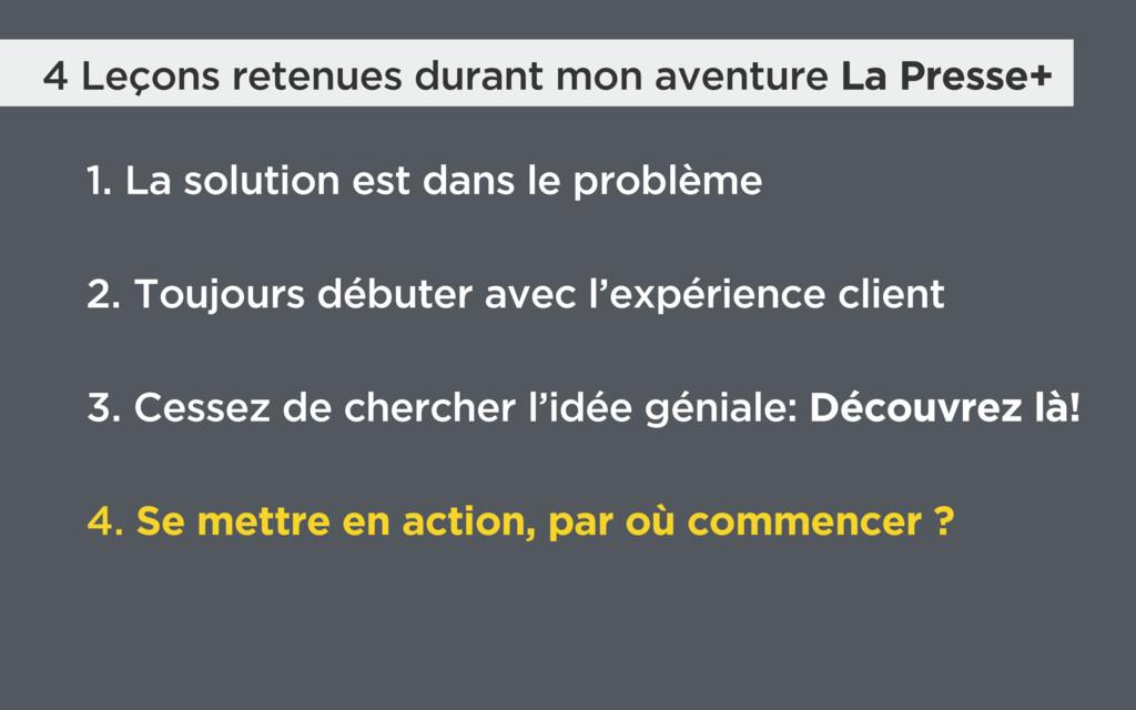 4 Leçons retenues durant mon aventure La Presse...
