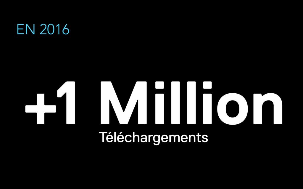 EN 2016 +1 Million Téléchargements