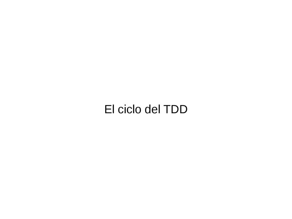 El ciclo del TDD