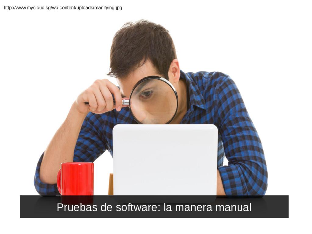 Pruebas de software: la manera manual http://ww...