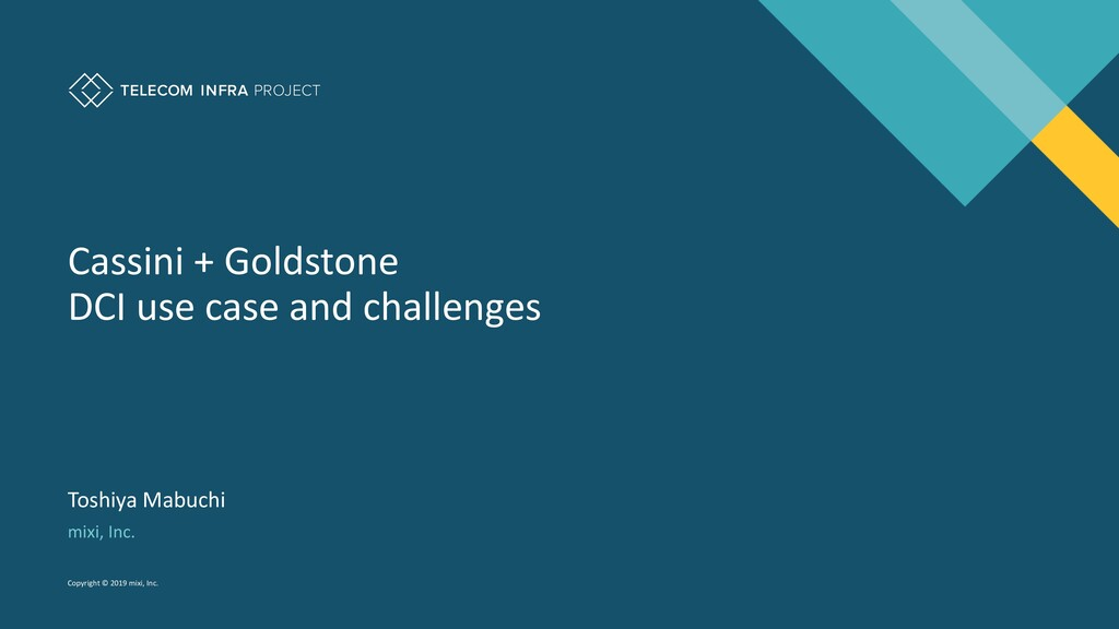 Cassini + Goldstone DCI use case and challenges...