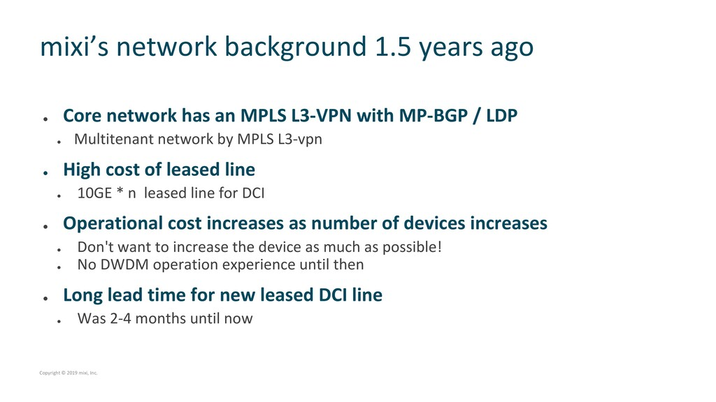 l Core network has an MPLS L3-VPN with MP-BGP /...