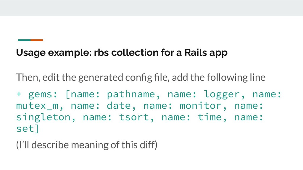 Usage example: rbs collection for a Rails app T...