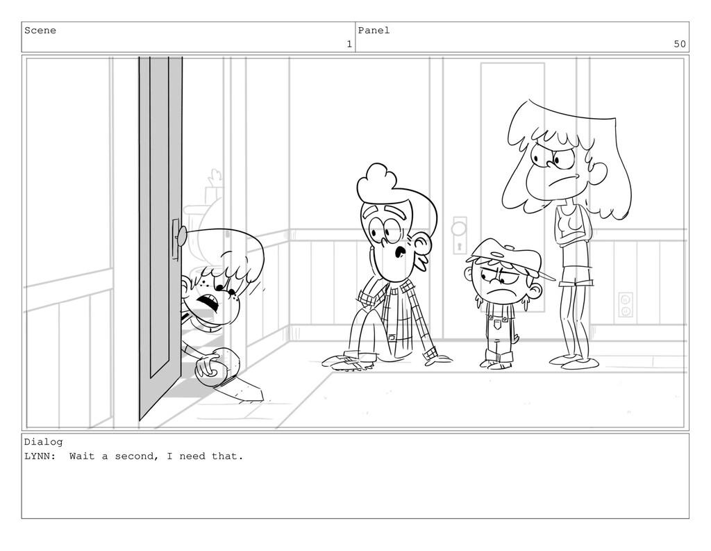 Scene 1 Panel 50 Dialog LYNN: Wait a second, I ...