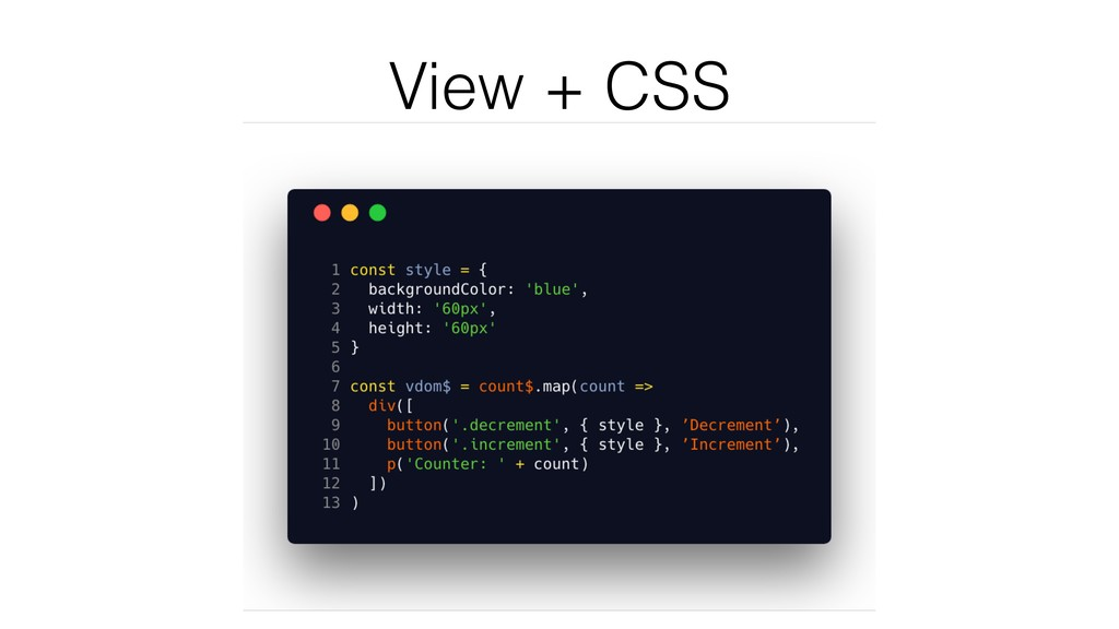 View + CSS