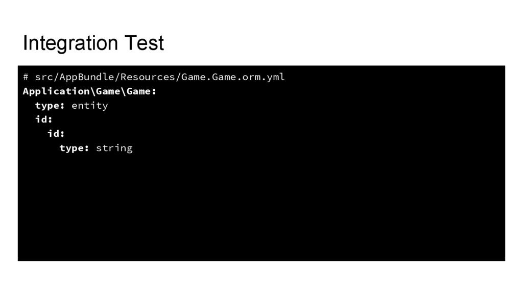 Integration Test # src/AppBundle/Resources/Game...