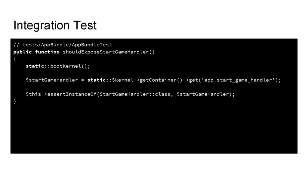 Integration Test // tests/AppBundle/AppBundleTe...