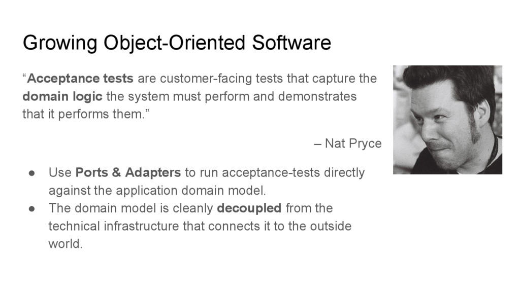 "Growing Object-Oriented Software ""Acceptance te..."