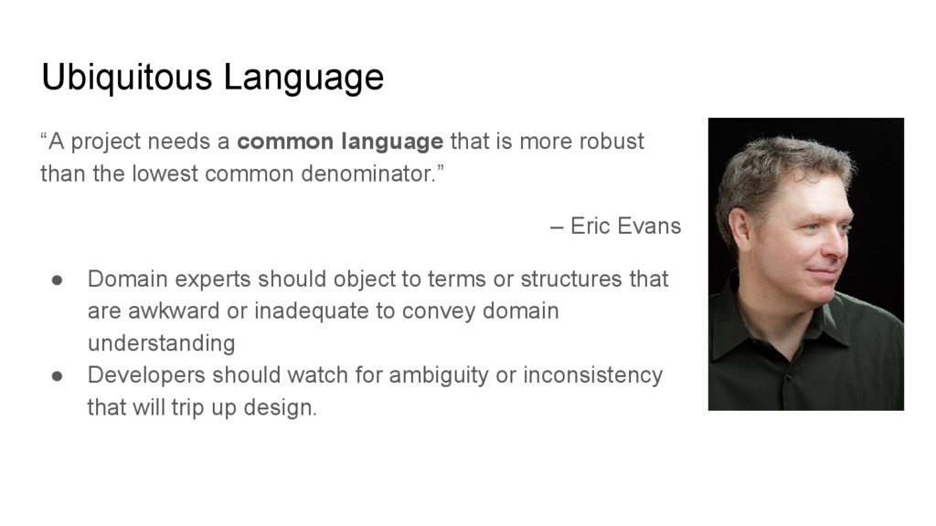 """A project needs a common language that is more..."