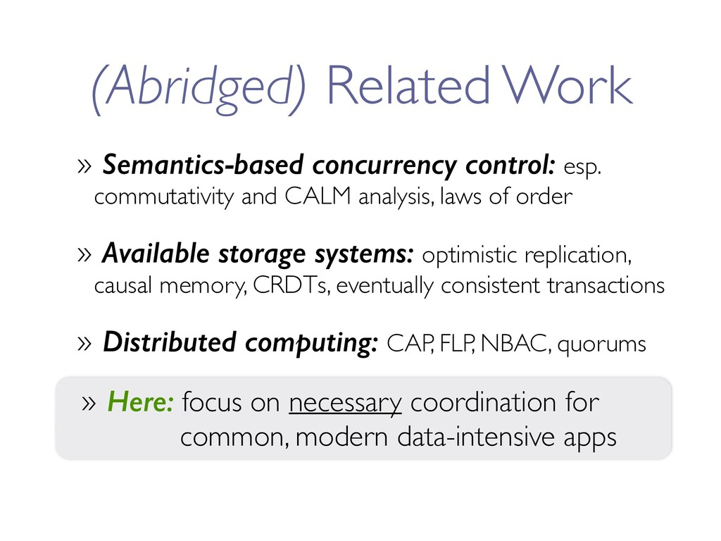 (Abridged) Related Work » Semantics-based concu...