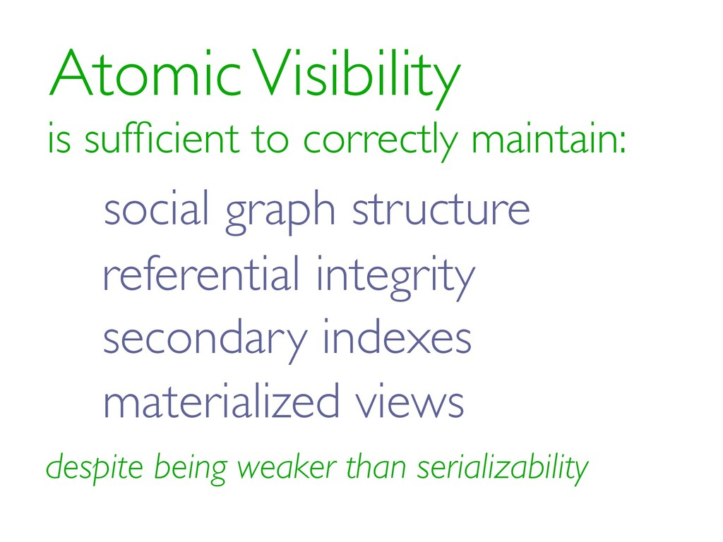 Atomic Visibility is sufficient to correctly mai...