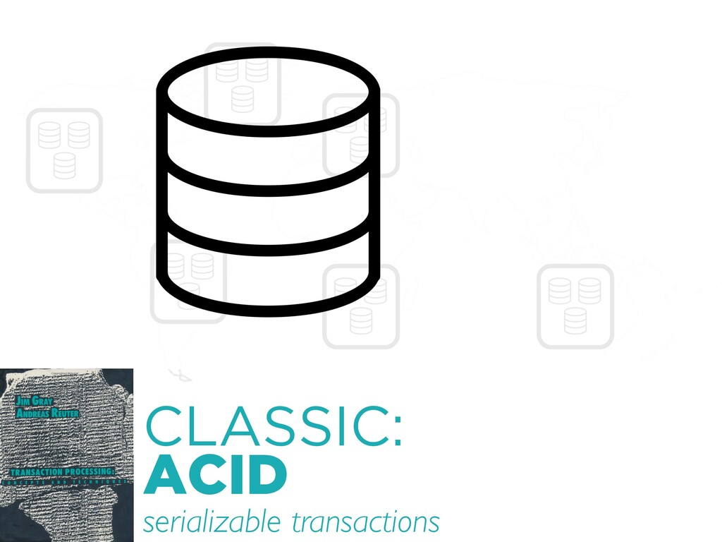 CLASSIC: ACID serializable transactions