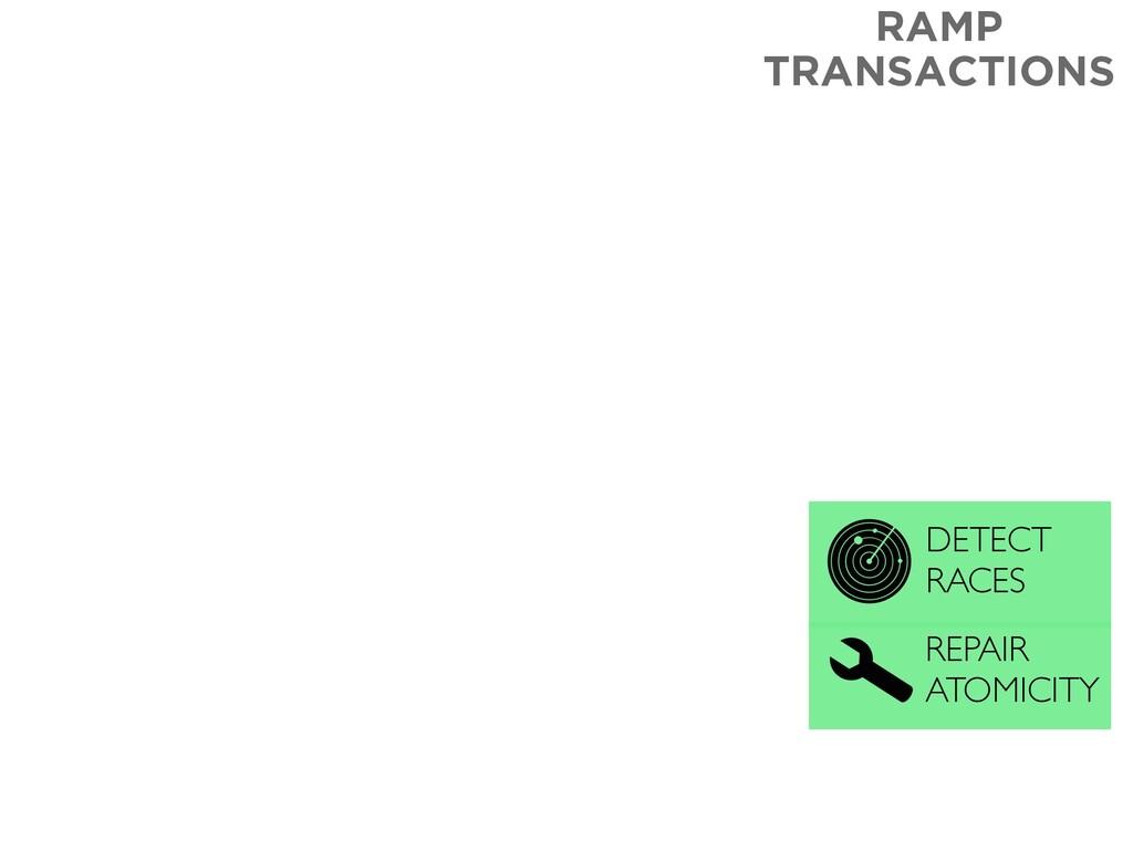 RAMP TRANSACTIONS REPAIR ATOMICITY DETECT RACES