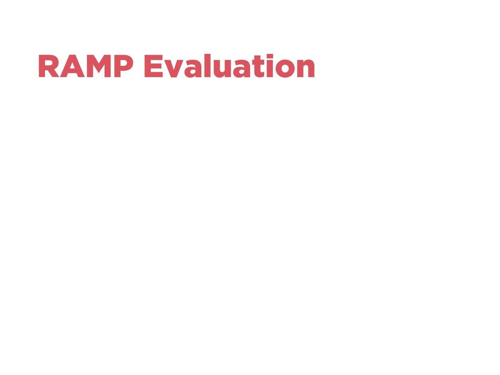 RAMP Evaluation