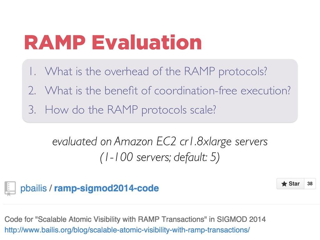 RAMP Evaluation evaluated on Amazon EC2 cr1.8xl...