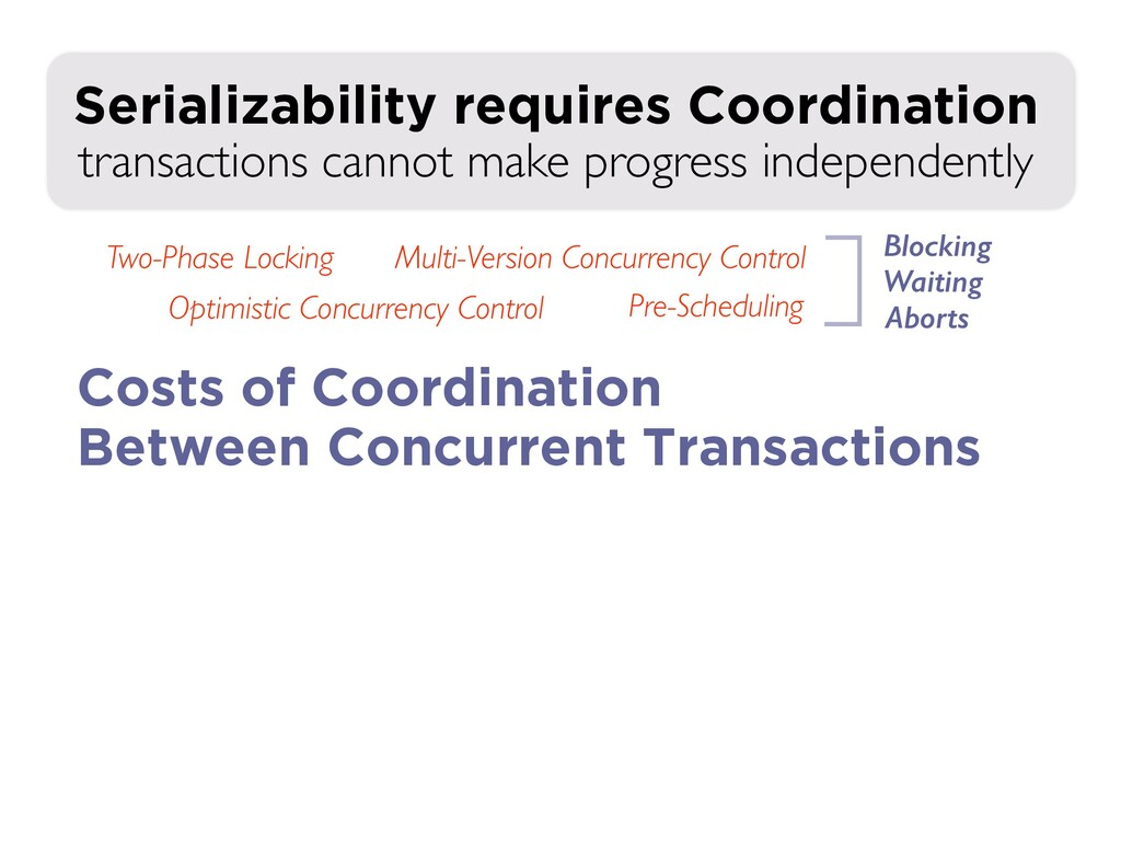 transactions cannot make progress independently...
