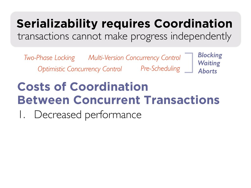 1. Decreased performance transactions cannot ma...