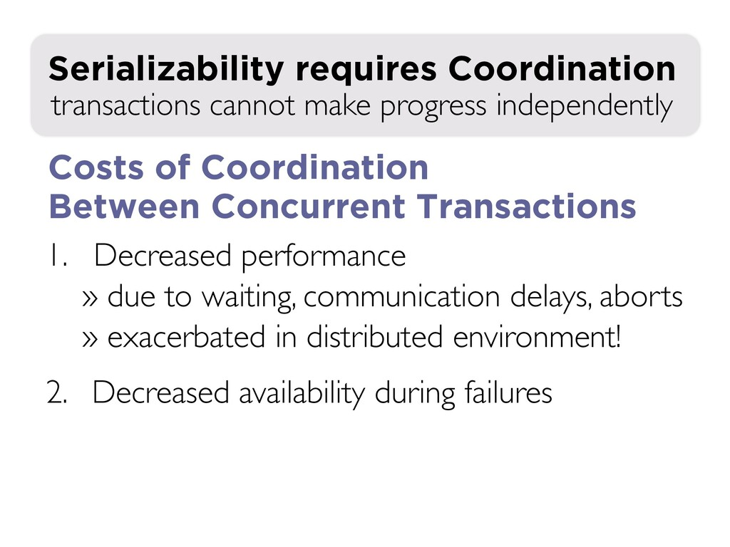 1. Decreased performance » due to waiting, comm...