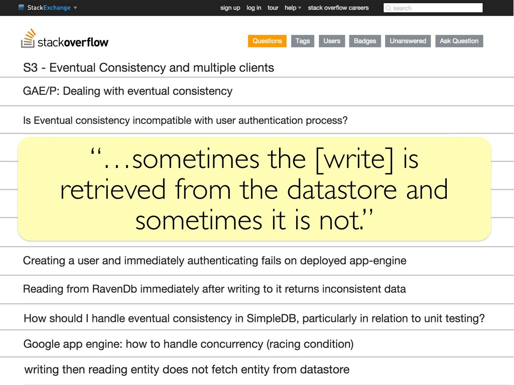 """""""…sometimes the [write] is retrieved from the d..."""