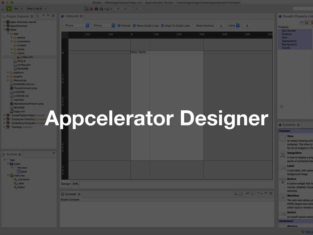 Appcelerator Designer