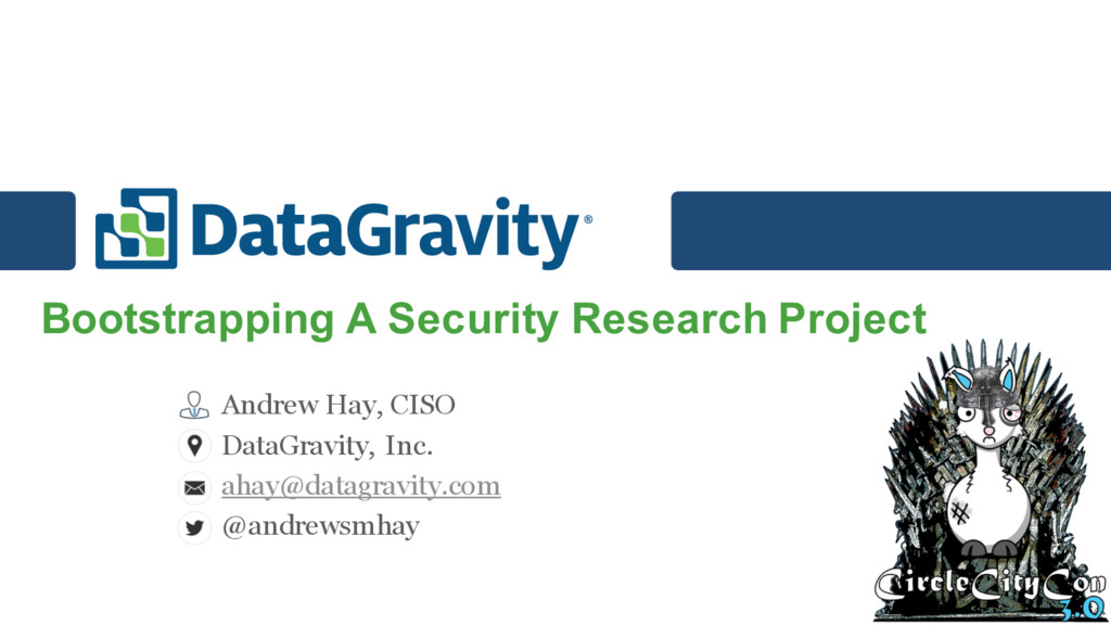Bootstrapping A Security Research Project Andre...
