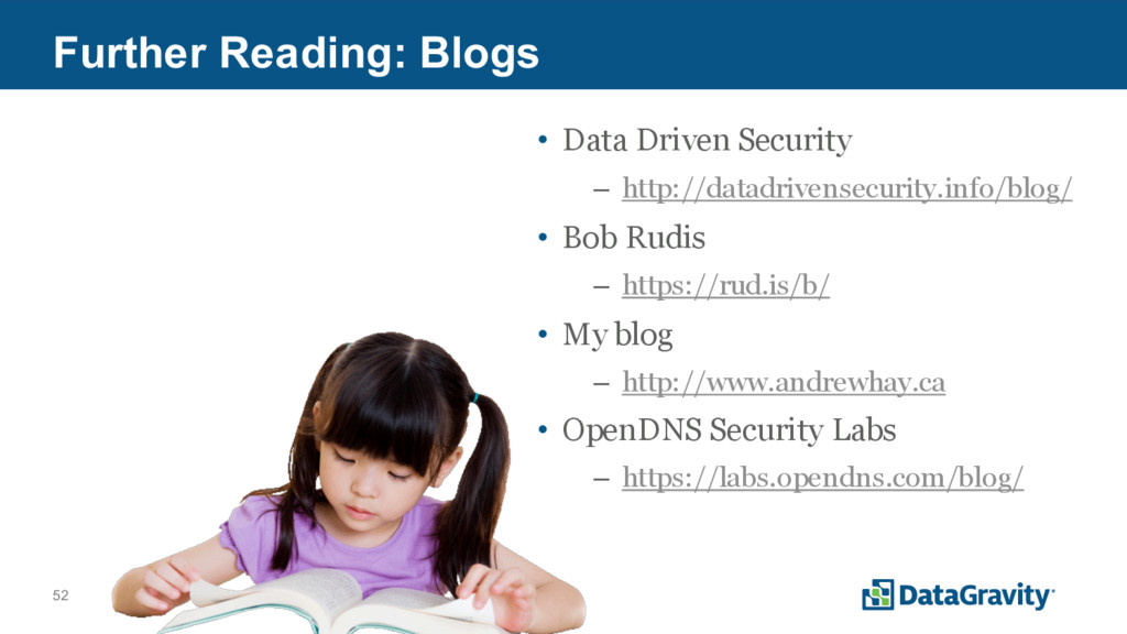52 Further Reading: Blogs • Data Driven Securit...