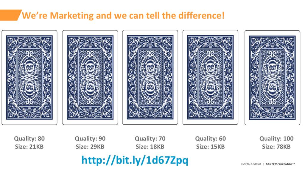 ©2016 AKAMAI   FASTER FORWARDTM We're Marketing...
