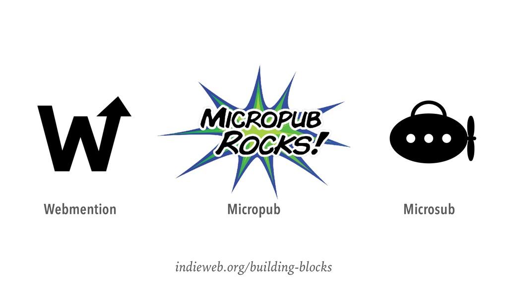indieweb.org/building-blocks Webmention Micropu...