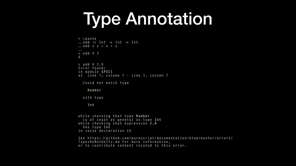 Type Annotation