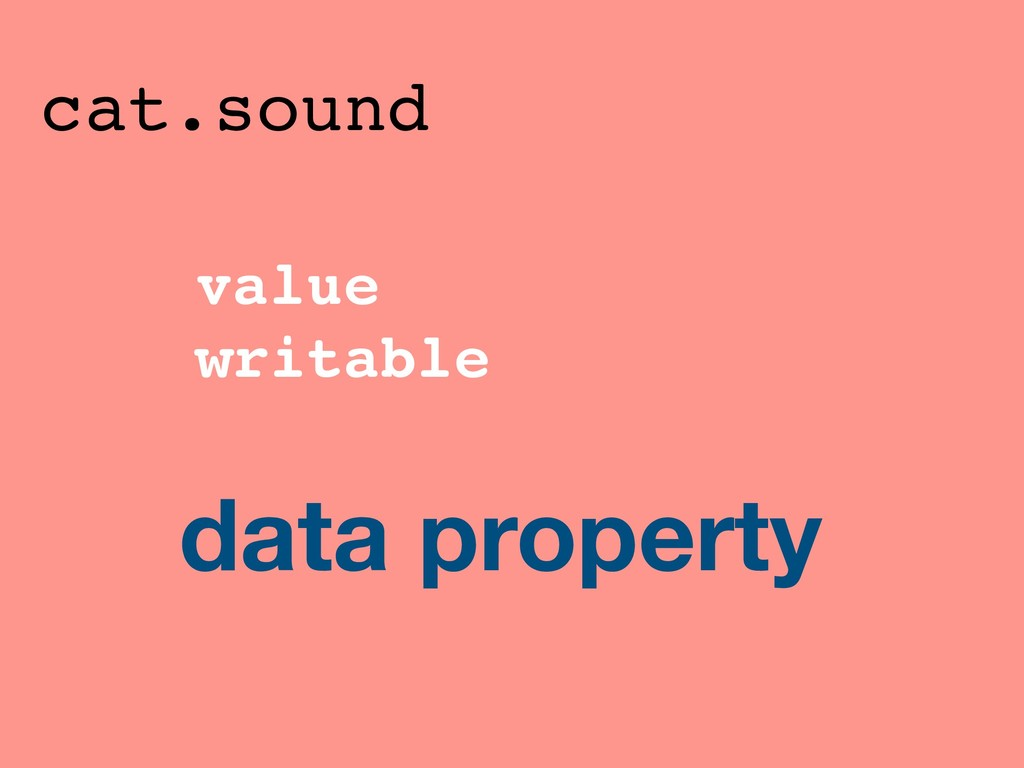 value writable cat.sound data property