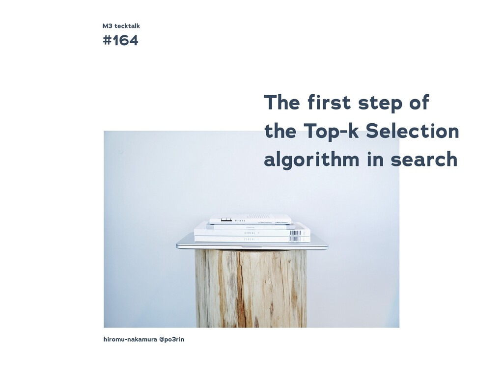 The first step of the Top-k Selection algorithm ...
