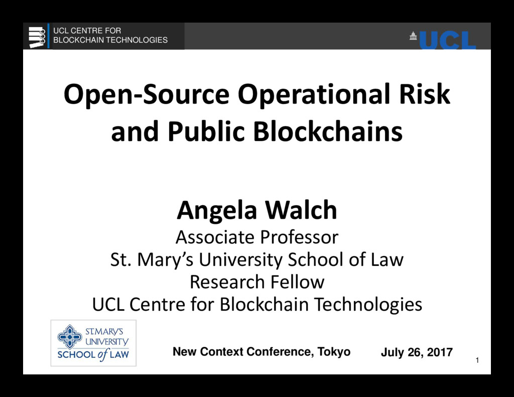 Open-Source Operational Risk and Public Blockch...