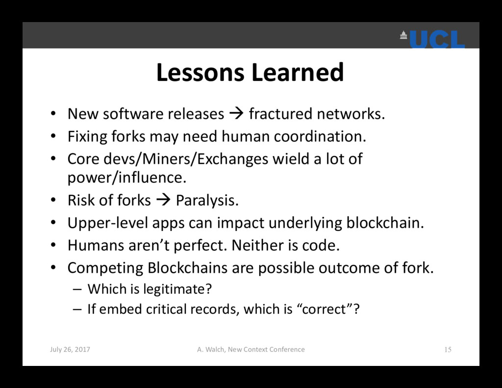 Lessons Learned • New software releases  fract...