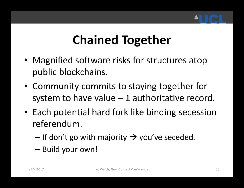 Chained Together • Magnified software risks for...