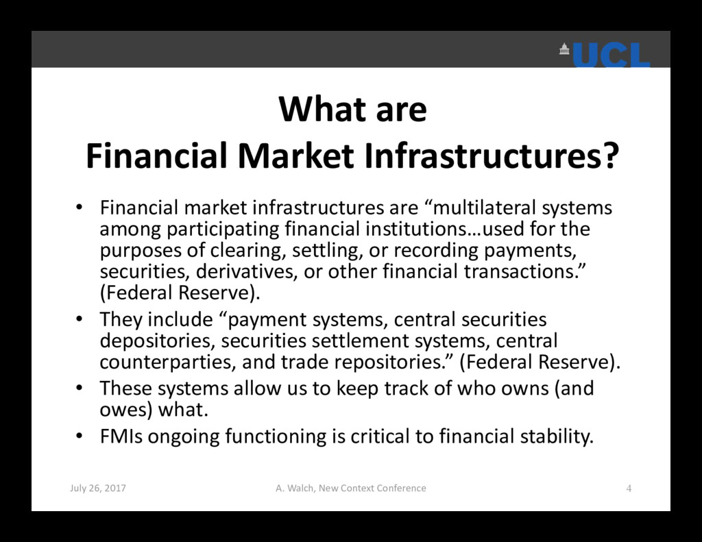 What are Financial Market Infrastructures? • Fi...